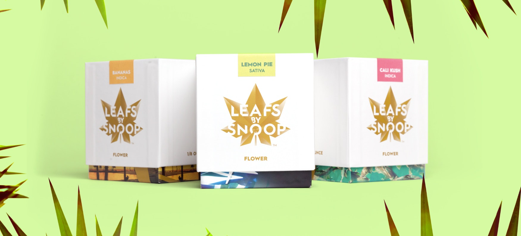 leafs by snoop branding logo packaging