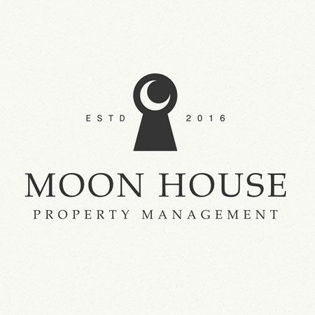 Moon House real estate logo