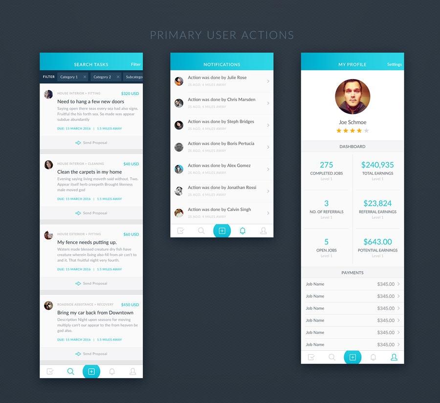 app design by calmspark
