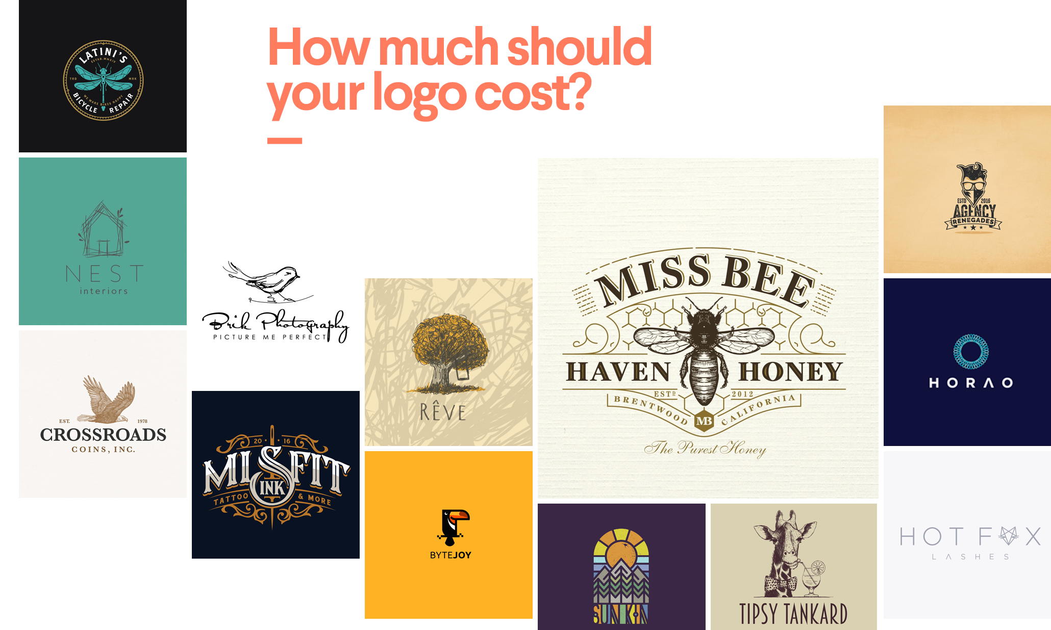 How much does a logo design cost? | 99designs