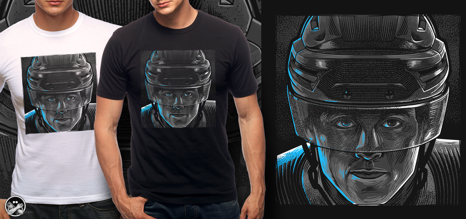 Hockey goalie t-shirt illustration
