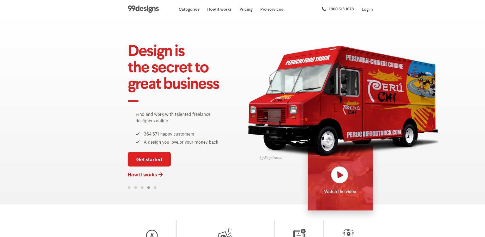 99designs homepage