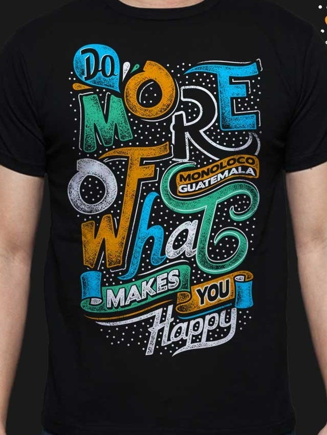Inspirational typography t-shirt
