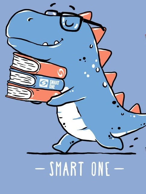 A nerdy dinosaur t-shirt for a tech company