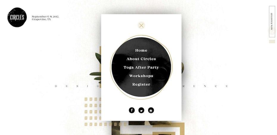 pop up menu design trend