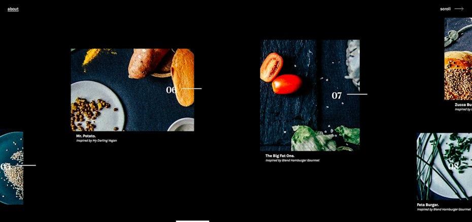 no menu web design trend