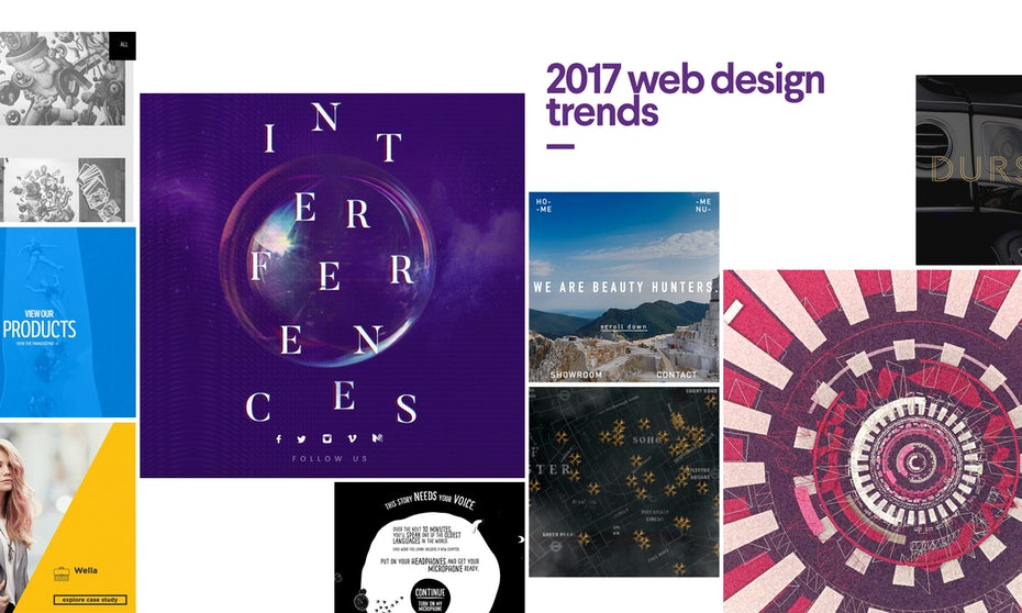 9 cutting edge web design trends for 2017