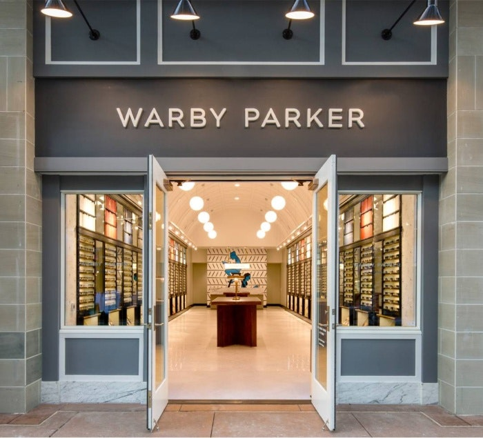 Warby Parker storefront