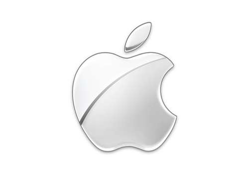 Modern monochrome Apple logo.
