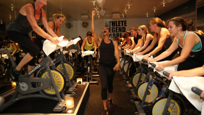 Soulcycle class