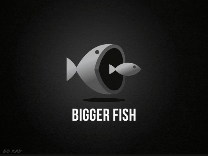 Bigger fish logo design