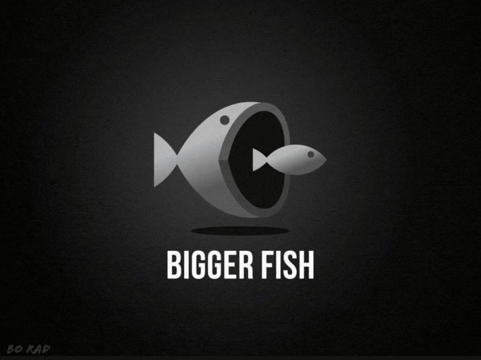 Bigger fish logo design