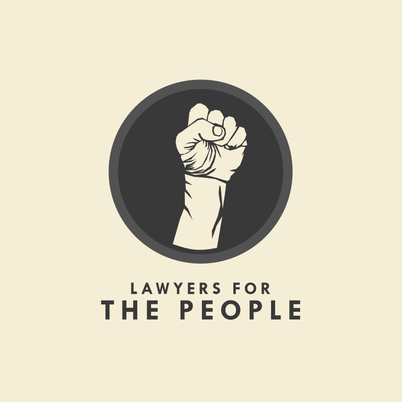 RAISED FIST lawyer logo