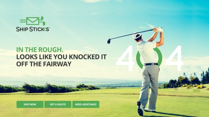 Golf 404 page