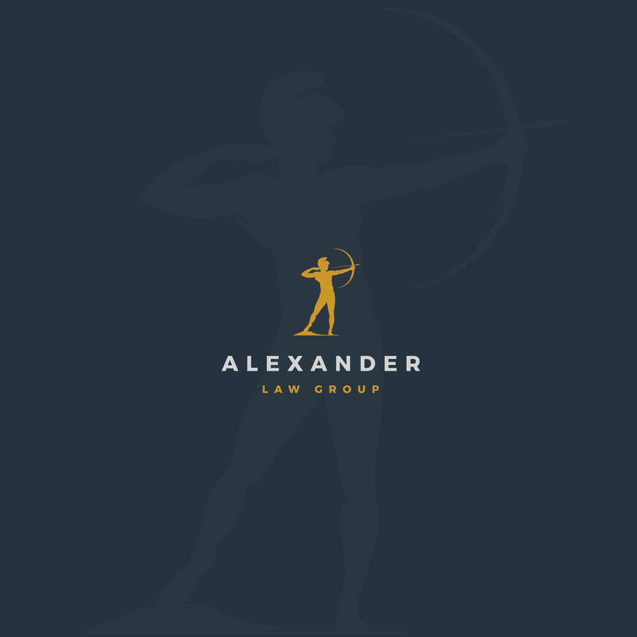 GOLDEN ARCHER LAWYER LOGO