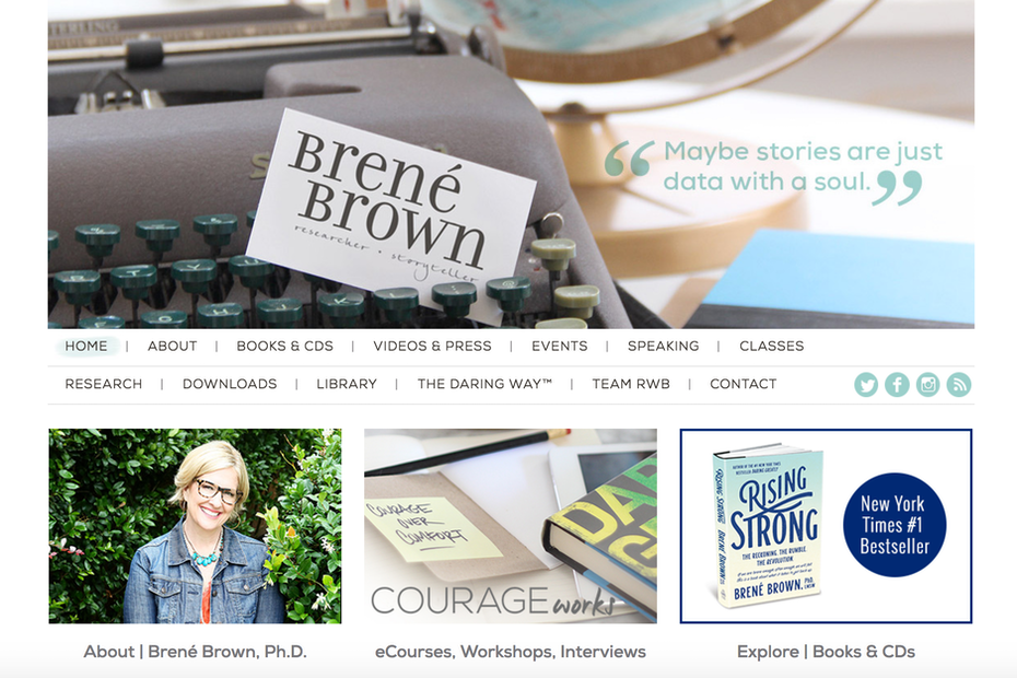 brene brown website