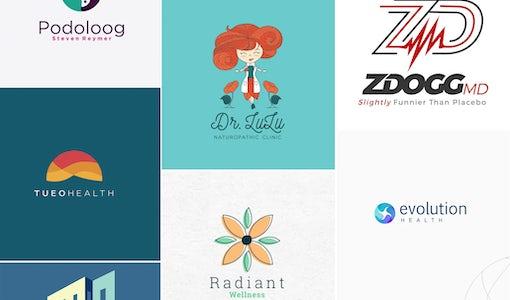24 Arzt-Logos, die dein Herz höher schlagen lassen