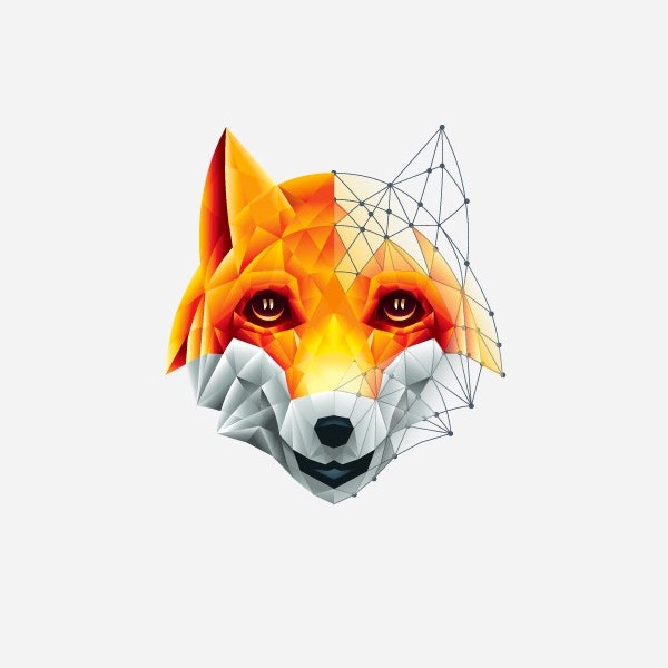 Geometric fox logo