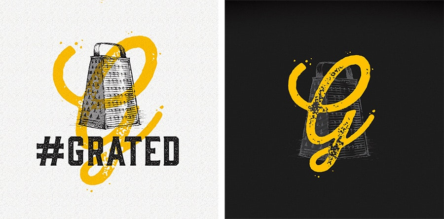 grated logo design
