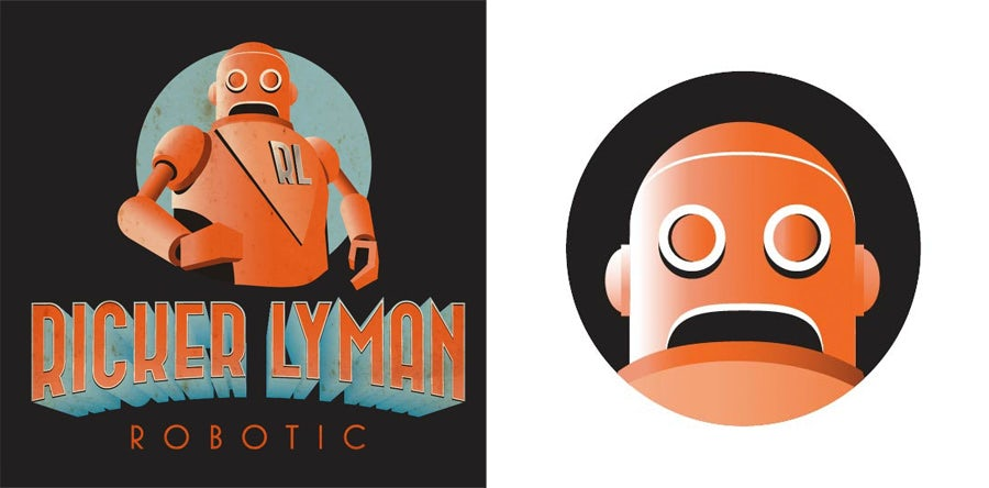 ricker lyman robotic logo design
