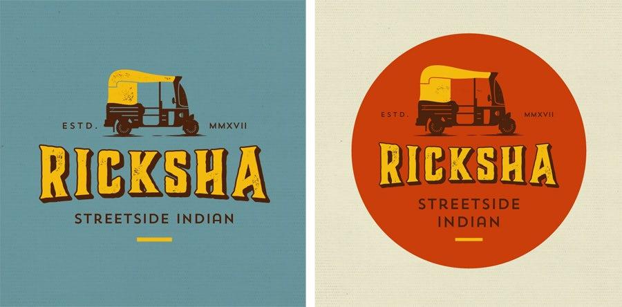 ricksha logo design