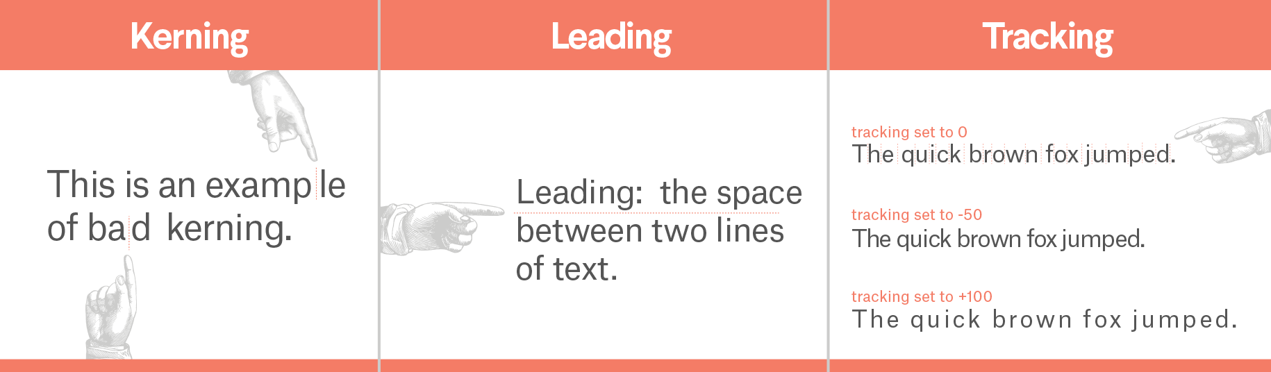 kerning leading tracking