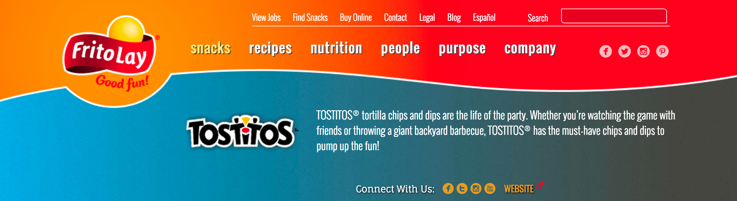 TOSTITOS WEBSITE