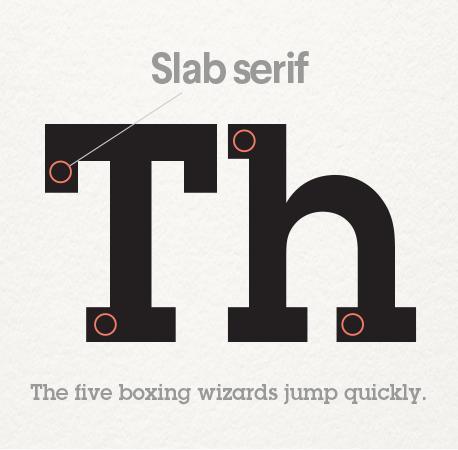 slab serif