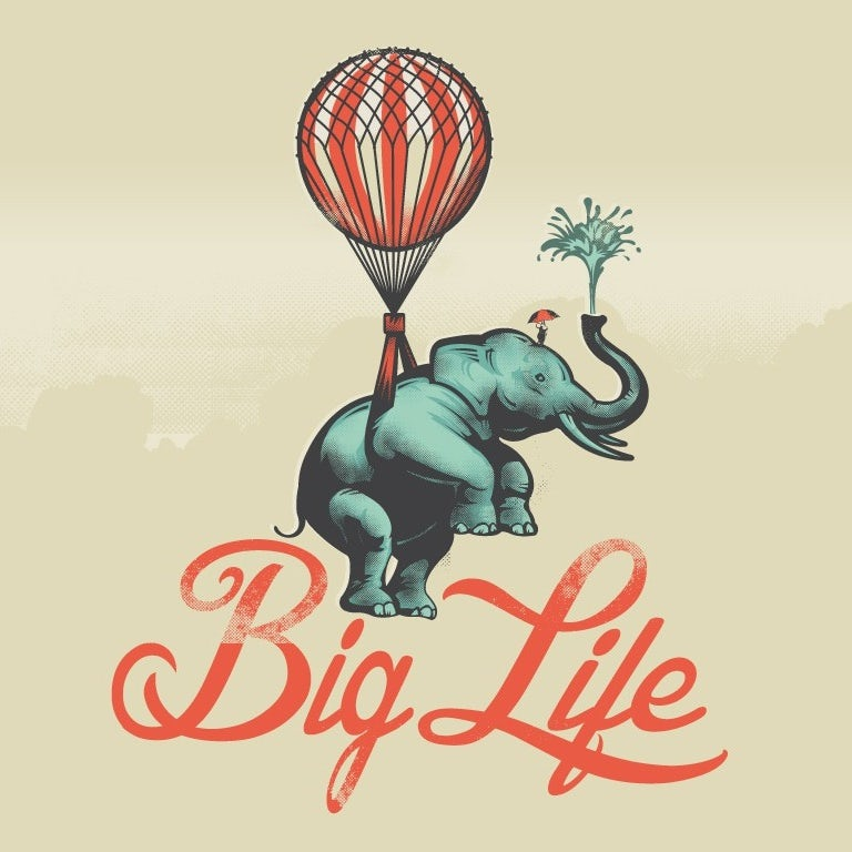 creative logo design with elephant and balloon