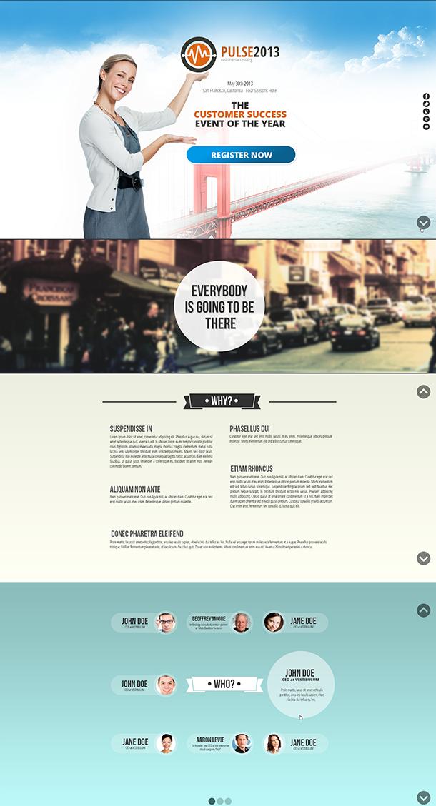 Customer success landing page