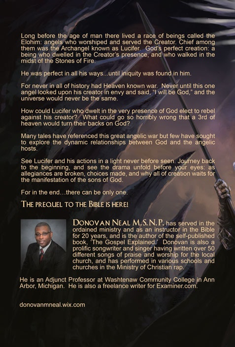 sci-fi novel back cover design