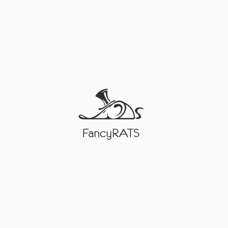 creative logos example wit rat in top hat