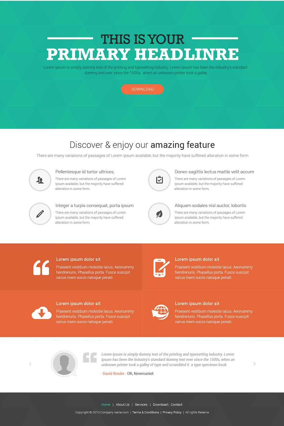 99designs template landing page
