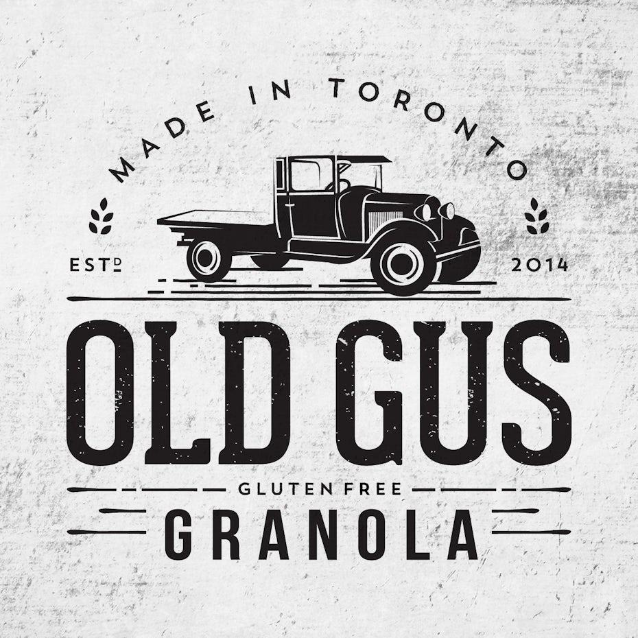 best logos example: vintage truck logo