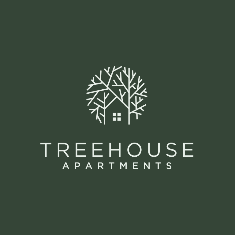 creative logo design with treehouse