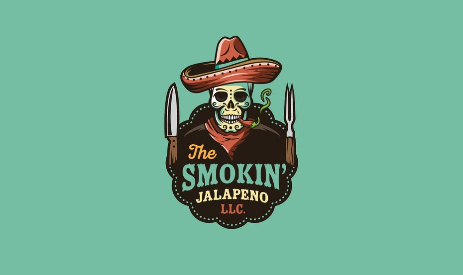 best logo design with mexican style skull illustration