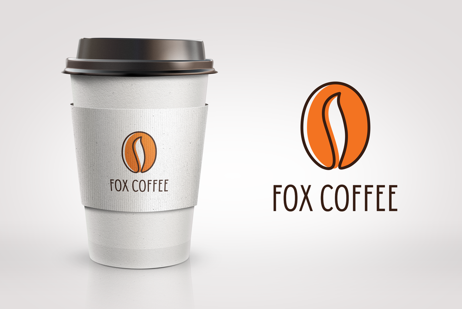best logo example with coffee bean that looks like a fox tail