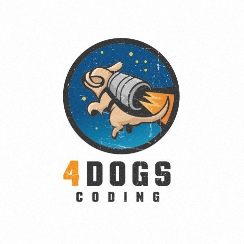 creative logos example of dog strapped to rocket