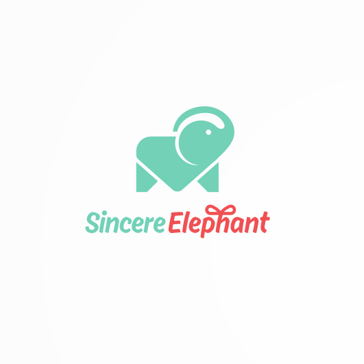 creative logo design with elephant in form of envelope