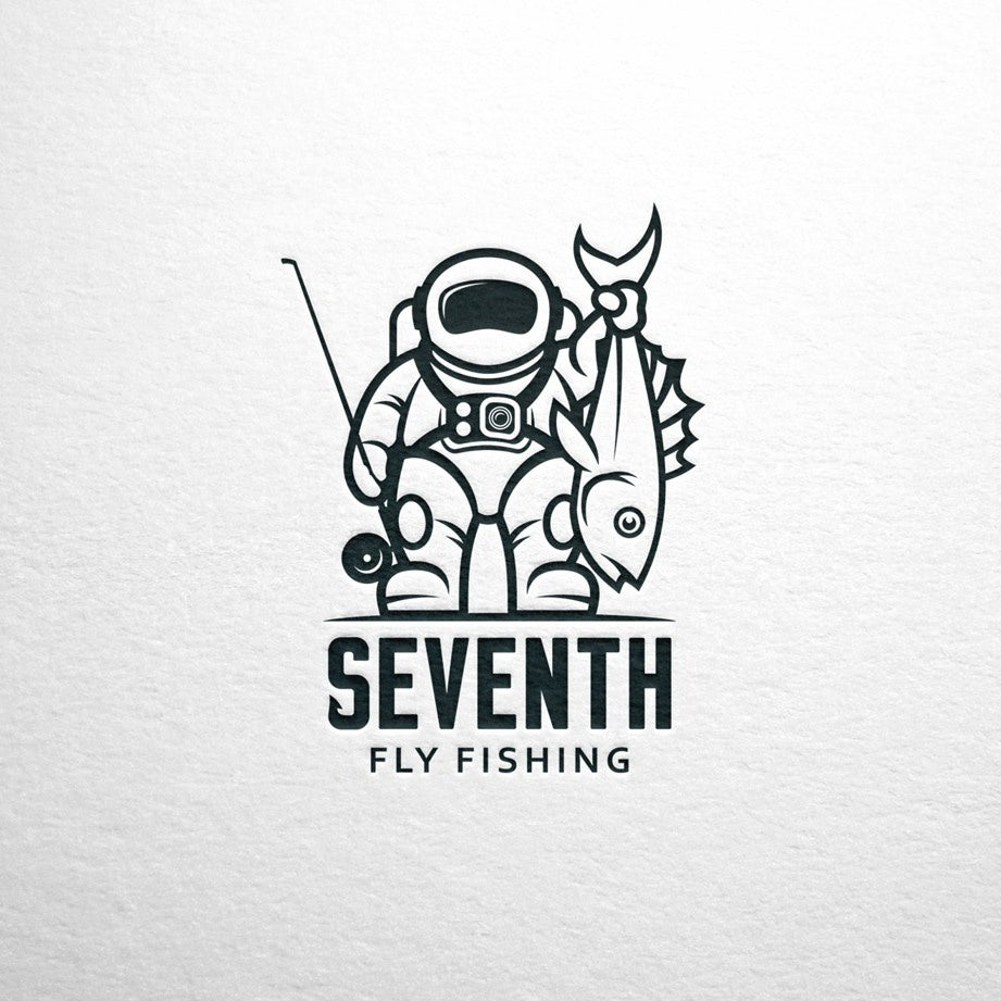 best creative logo with astronaut holding fish