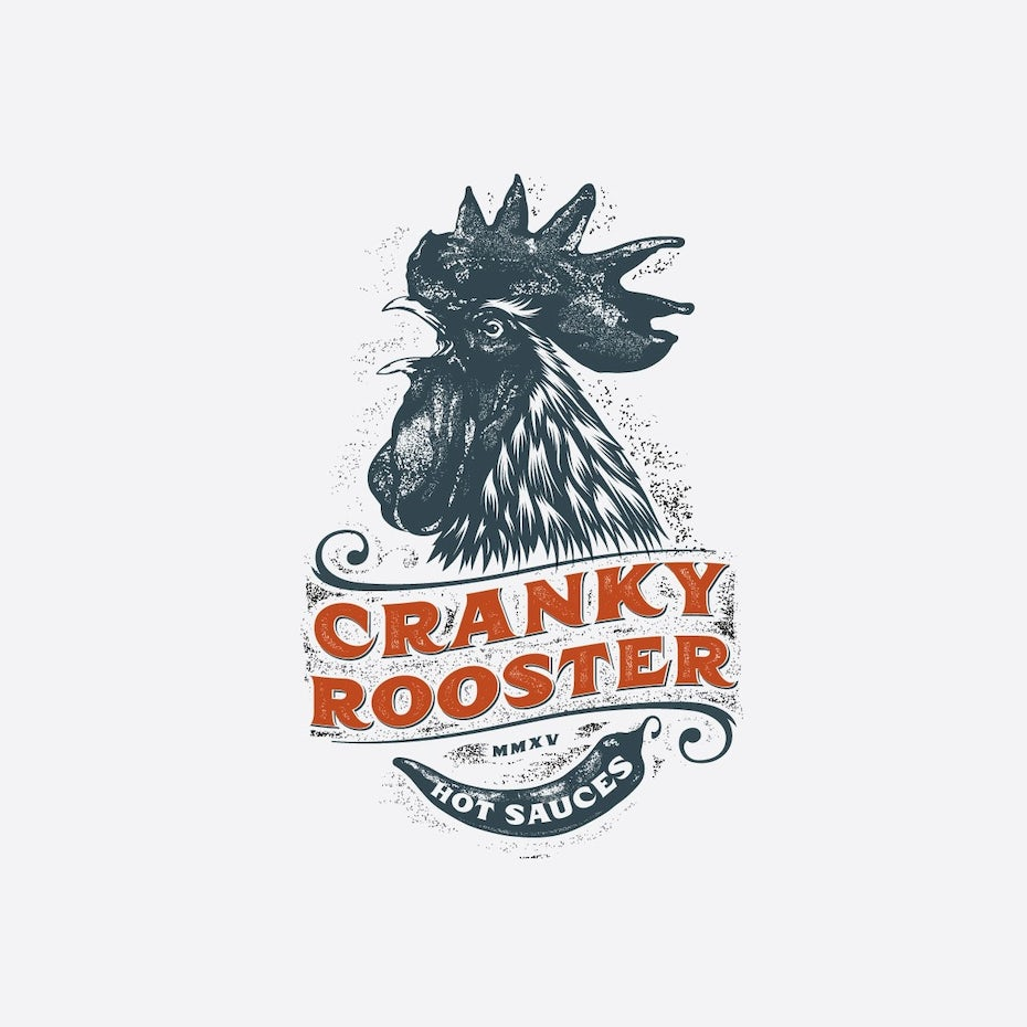 best logos example: vintage rooster logo