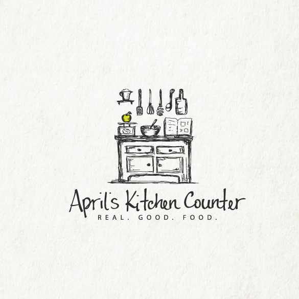 best logos example with drawing of kitchen counter