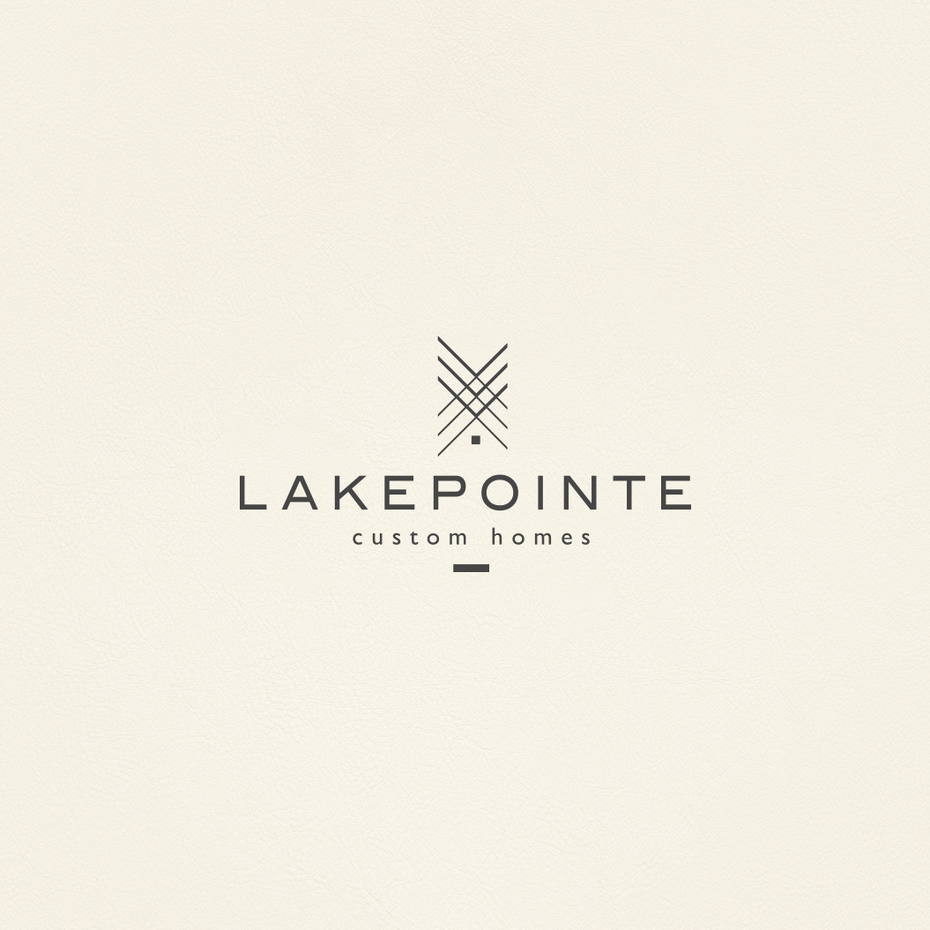 best logo design with abstract crossing lines