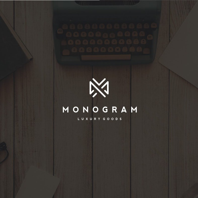 best logo design with abstract m shape