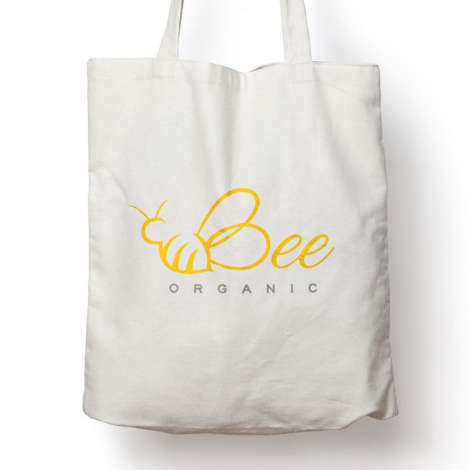 creative logo design with bee drawing