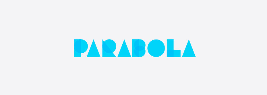 top logos example: wordmark with letters made out of geometric shapes