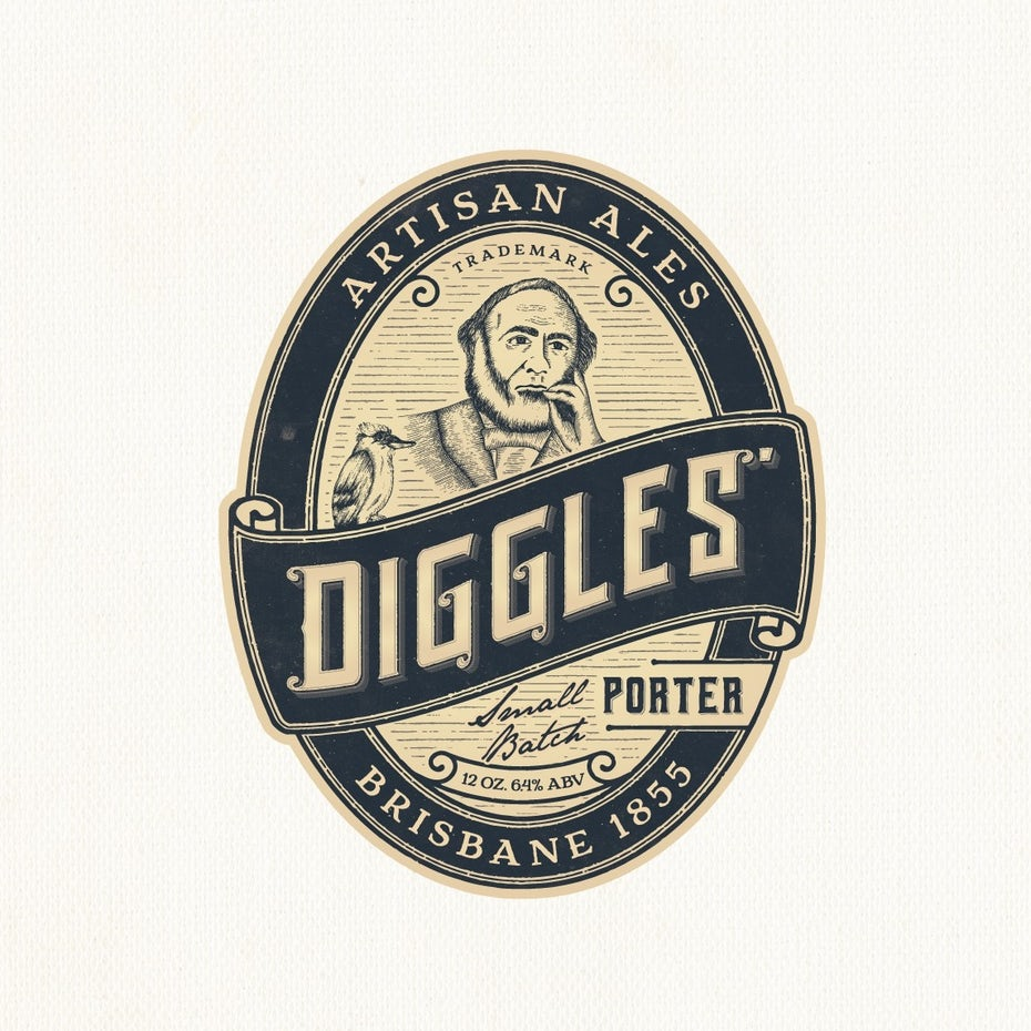 best logos example: vintage portrait emblem logo