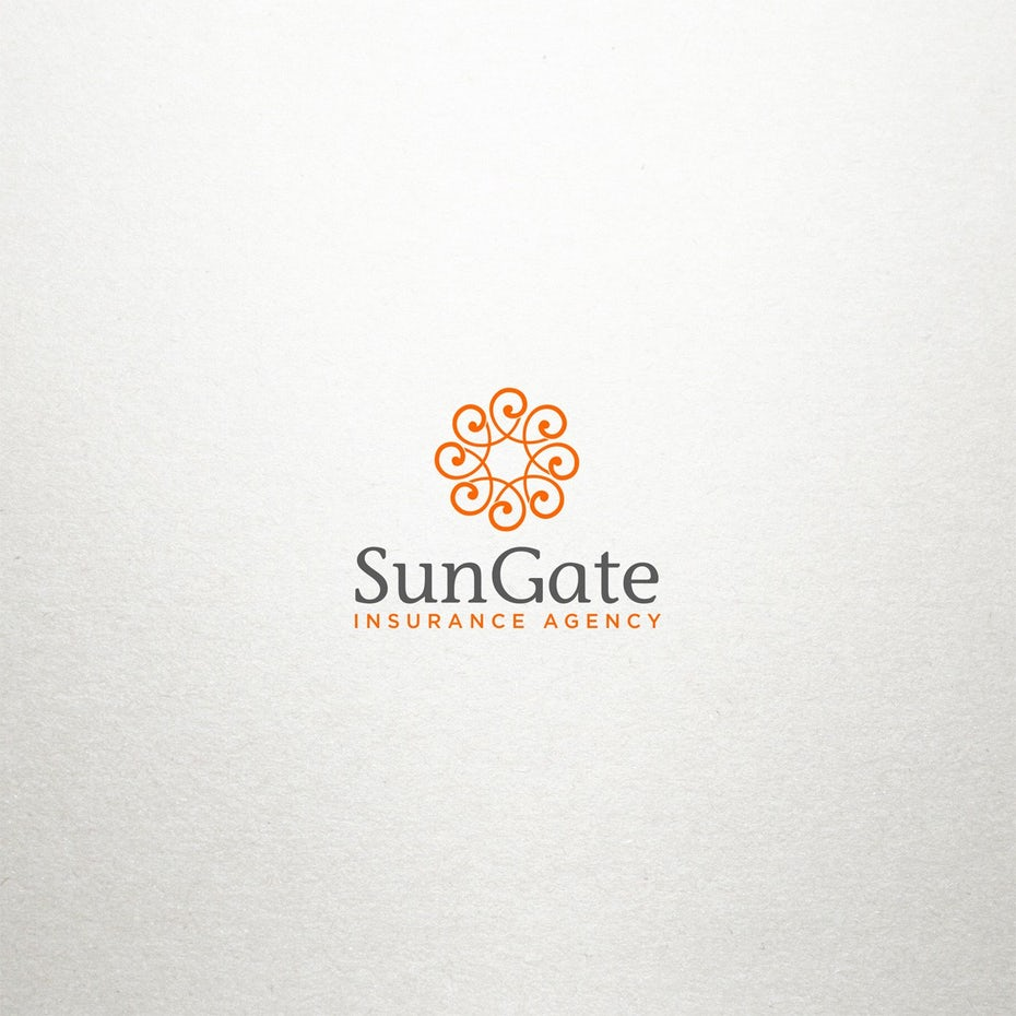best logo design with abstract ornamental circle shapes