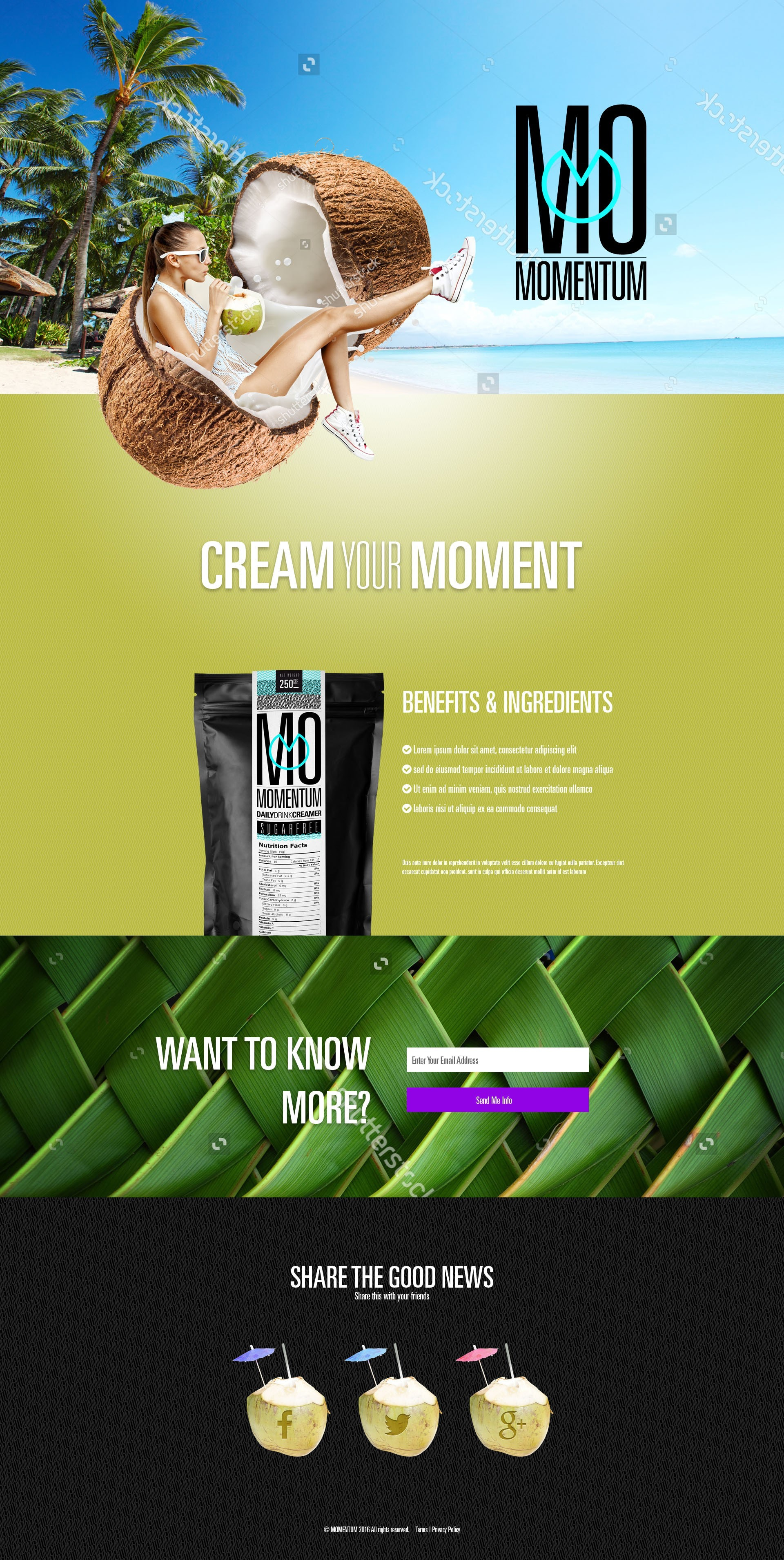 Coconut landing page