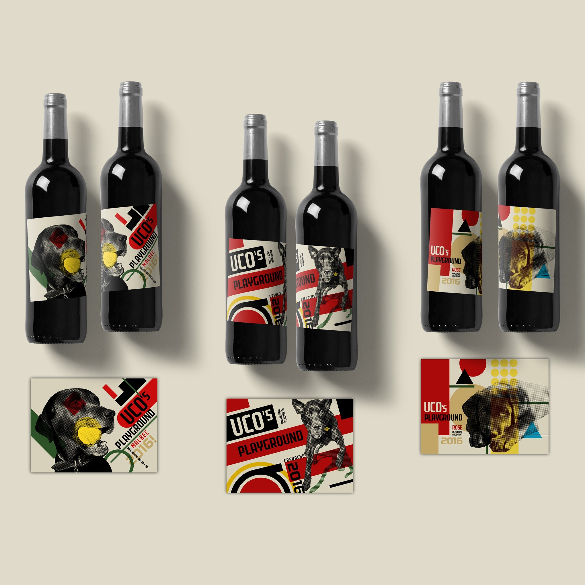 Wine Label featuring puppies